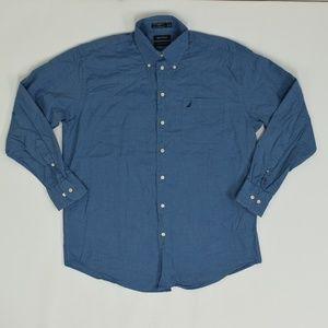 Nautica Regular 16 1/2 Blue   Button Down Cotton S